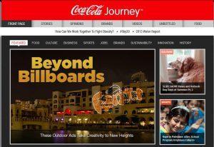 Brand journalism: cómo las empresas recurren al periodismo de marca - brand journalism coca cola 300x206