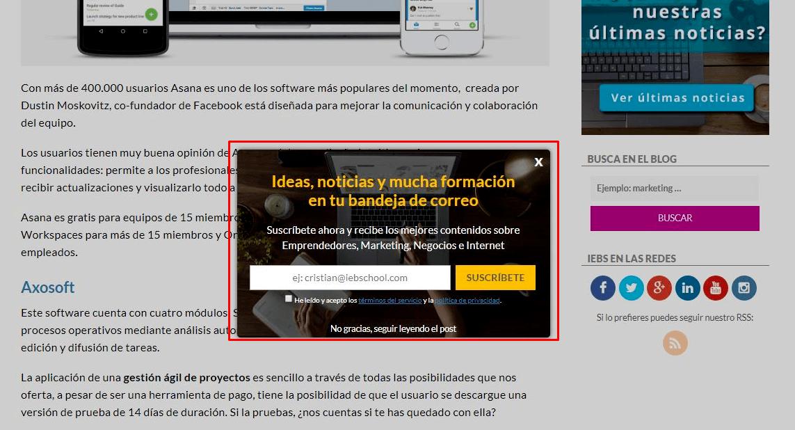 Qué es la publicidad display y ejemplos que te ayudan a entenderla - pop up