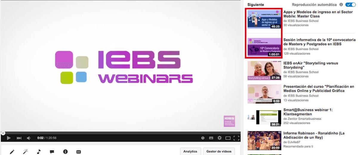 Guía para optimizar tus vídeos de Youtube - busqueda relacionada