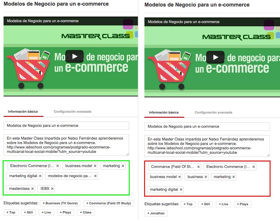 Guía para optimizar tus vídeos de Youtube - keywords