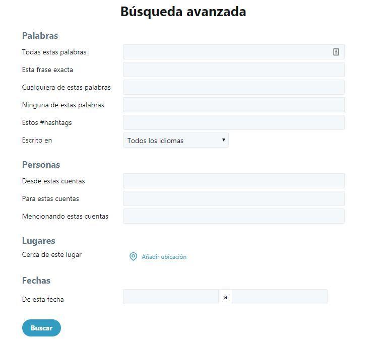 Twitter para principiantes: completa guía para iniciarte en la red social - búsqueda avanzada