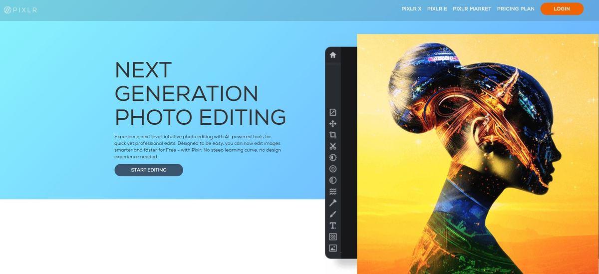 5 Herramientas de edición de imágenes para redes sociales - Pixlr editor imagenes