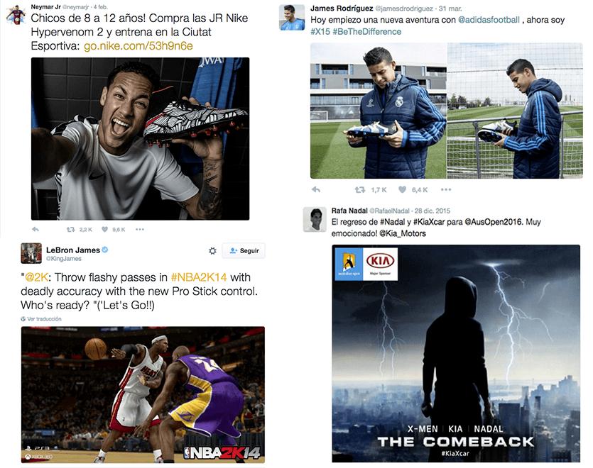 Guía completa de Marketing Deportivo - twitter jugadors