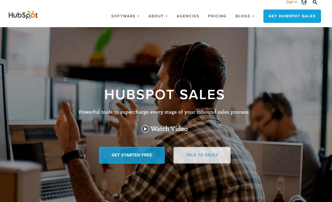 Mejores Herramientas de Inbound Marketing Gratis y de pago - Hubspot sales