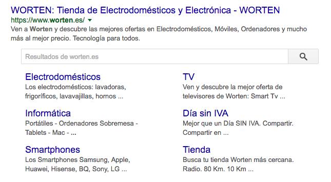 Cómo diseñar un buscador de productos para asegurar una experiencia de usuario óptima - buscador dentro resultados de google