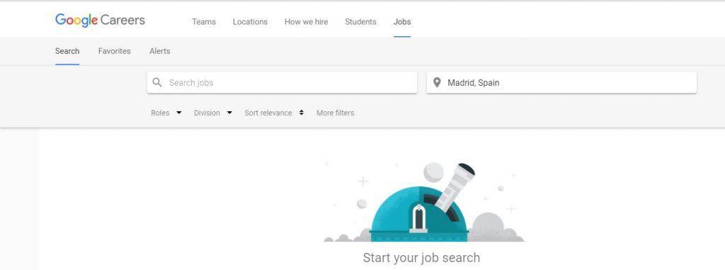 Google Hire o Google for Jobs: la nueva plataforma de empleo de Google - Búsqueda de empleos 1024x381
