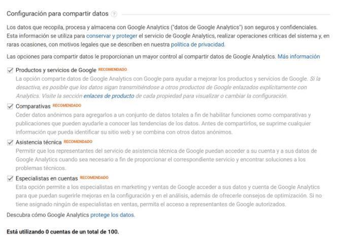 ¿Cómo dar de alta en Google Analytics una web? - configuración cuentas