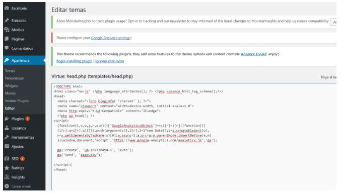 ¿Cómo dar de alta en Google Analytics una web? - edición head