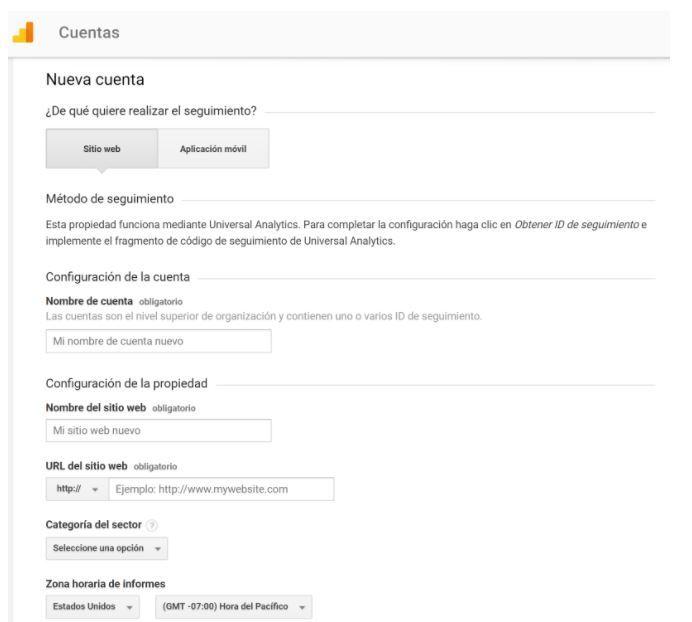 ¿Cómo dar de alta en Google Analytics una web? - nuevas cuentas