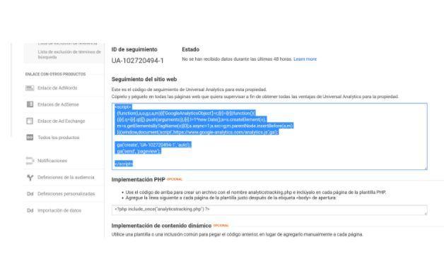 ¿Cómo dar de alta en Google Analytics una web? - seguimiento web analytics