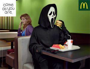 Campañas de publicidad de Halloween que dan verdadero miedo - mcdonald halloween 300x228