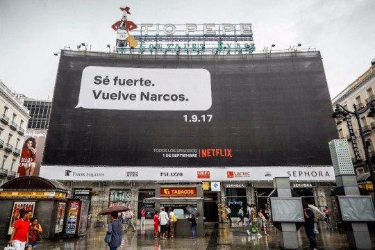 Campañas de Marketing de los protagonistas de la Revolución Digital - narcos se fuerte