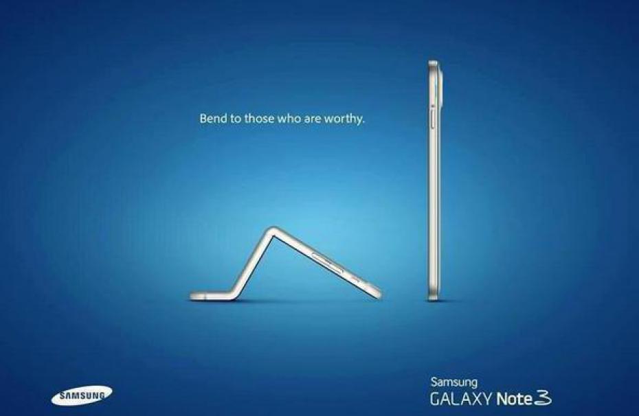 Campañas de Marketing de los protagonistas de la Revolución Digital - publicidad de samsung ridiculizando a apple