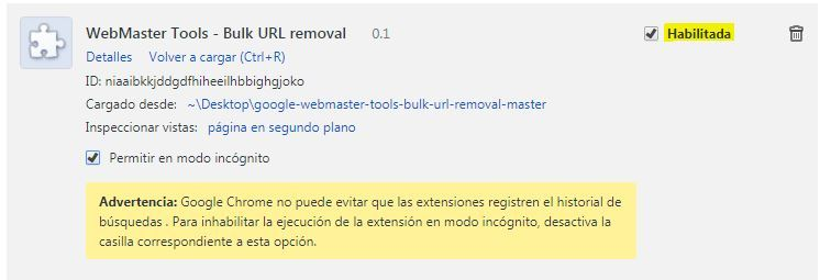 Cómo desindexar o eliminar urls de forma masiva en Search Console - Eliminar URLs Search Console sexto paso