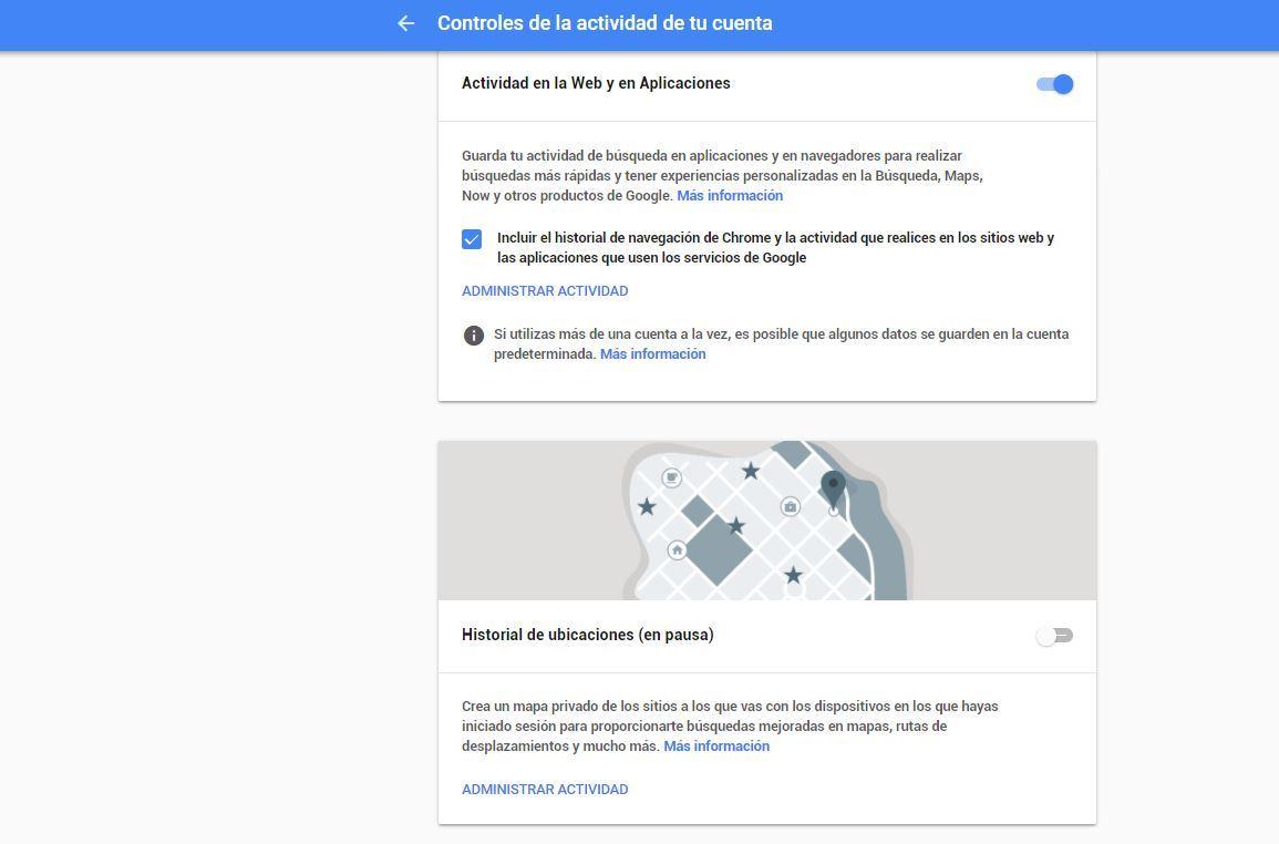 Todo lo que Google sabe de ti y cómo eliminarlo en sencillos pasos - control maps