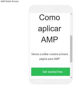 Cómo instalar, configurar e implementar AMP en Wordpress - ejemplo amp 262x300