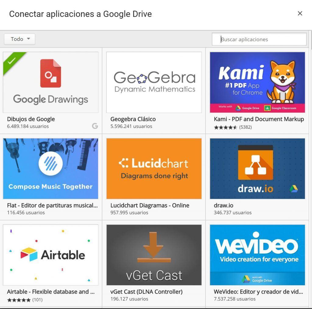 Trucos y consejos para aprovechar al máximo Google Drive - aplicaciones drive 1024x1013