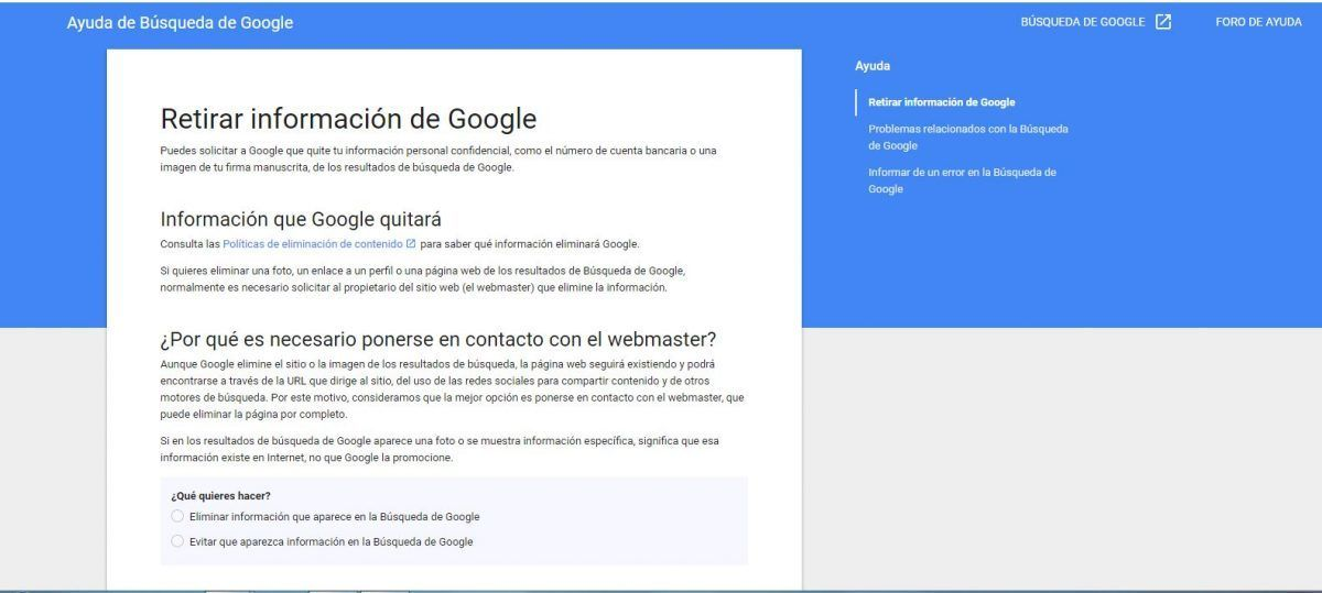 #DebateIEBS: El derecho al olvido: la pesadilla de la huella digital - Retirar información de Google