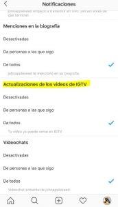 Qué es y cómo funciona IGTV, la nueva televisión de Instagram - Desactivar notificaciones IGTV 172x300