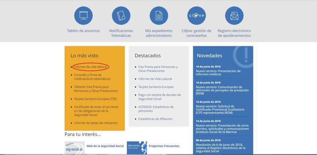 Qué es y cómo solicitar el informe de vida laboral - Opción 1 encontrar informe de vida laboral 1024x502