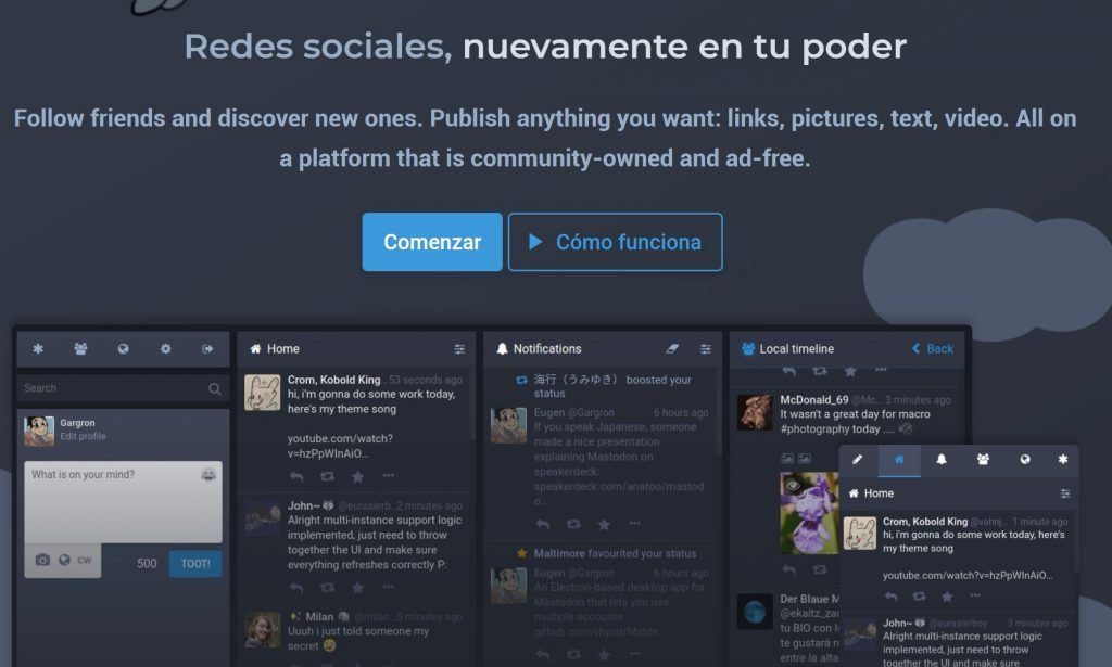Cómo funciona Mastodon, la nueva alternativa a Twitter - instancias mastodon 1024x615