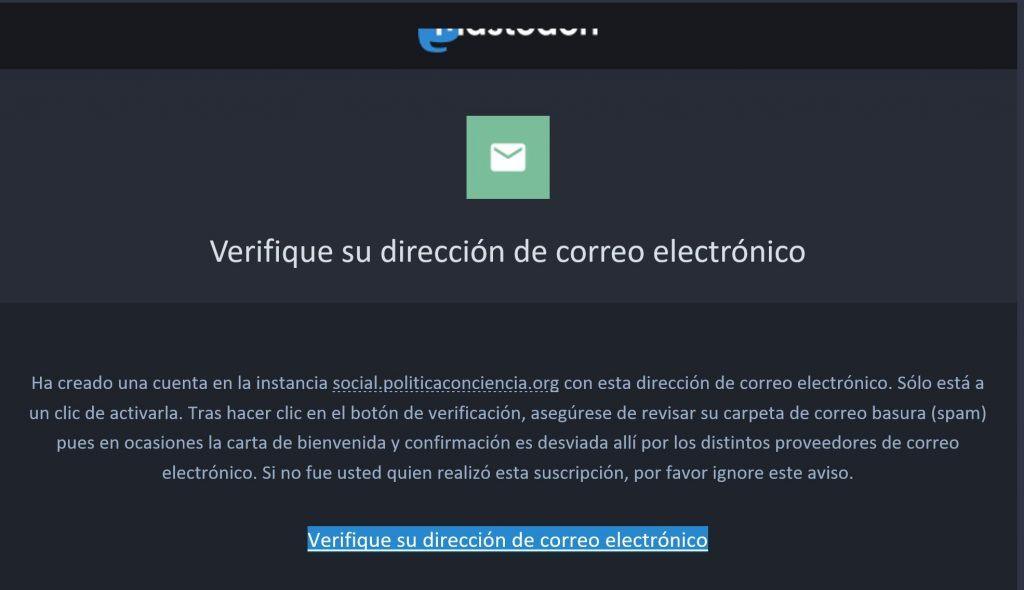 Cómo funciona Mastodon, la nueva alternativa a Twitter - verificacion correo mastodon 1024x590
