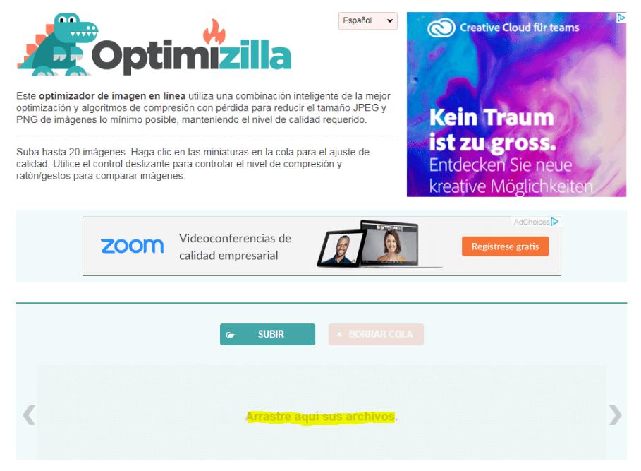 Cómo mejorar la velocidad de carga de imágenes en Wordpress - optimizilla min