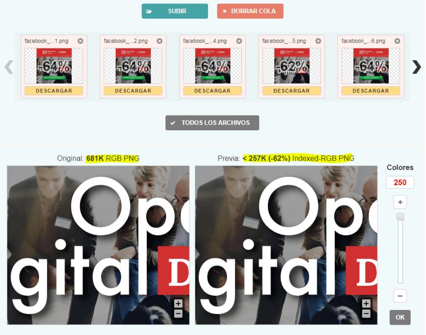 Cómo mejorar la velocidad de carga de imágenes en Wordpress - subir imagenes min