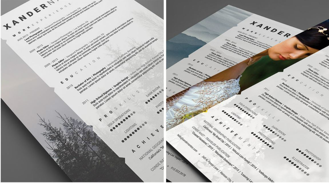 Las plantillas de los curriculums más originales y herramientas para crearlos - cv fotografo