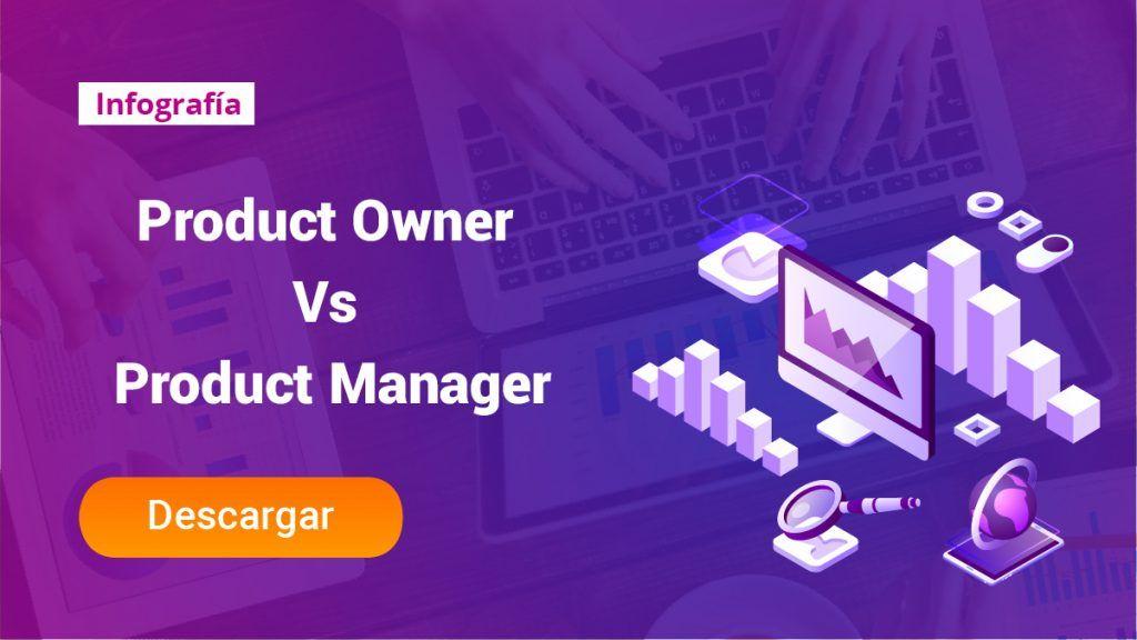 Tipos de Product Manager, cuántos hay y cómo funcionan - INFOGRAFIA PRODUCT OWNER VS PRODUCT MANAGER 1024x576