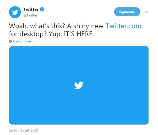 Todas las novedades del rediseño de Twitter en 2019 - novedad tw