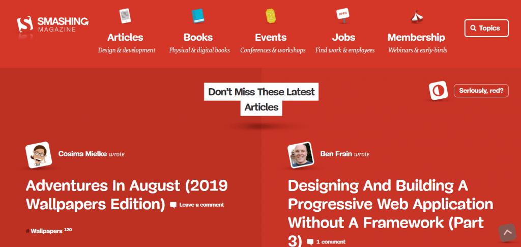 Los 10 mejores blogs de UX y UI que tienes que conocer - smashing magazine min 1024x485