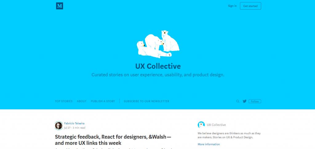 Los 10 mejores blogs de UX y UI que tienes que conocer - ux collective min 1024x485