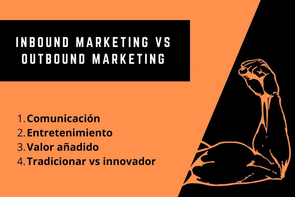 Inbound Marketing vs Outbound Marketing. Las 4 diferencias clave - inbound marketing vs outbound marketing 1024x683