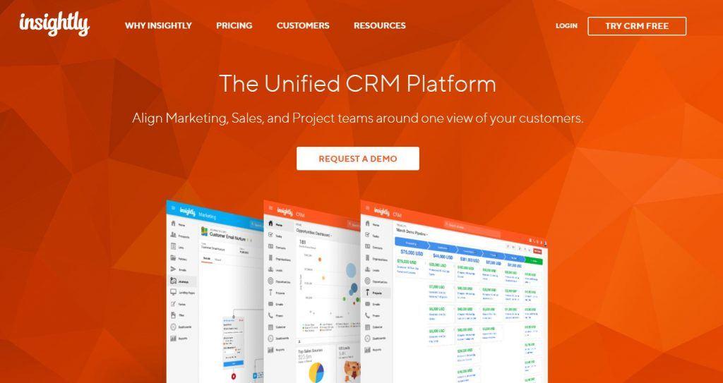 Descubre las mejores herramientas de software de CRM - Insightly logo 1024x543