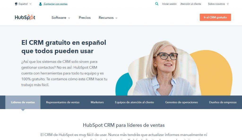 Descubre las mejores herramientas de software de CRM - hubspot 1024x593