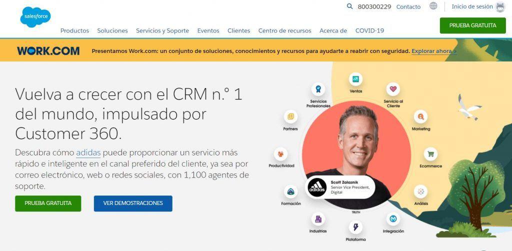 Descubre las mejores herramientas de software de CRM - work 1024x502