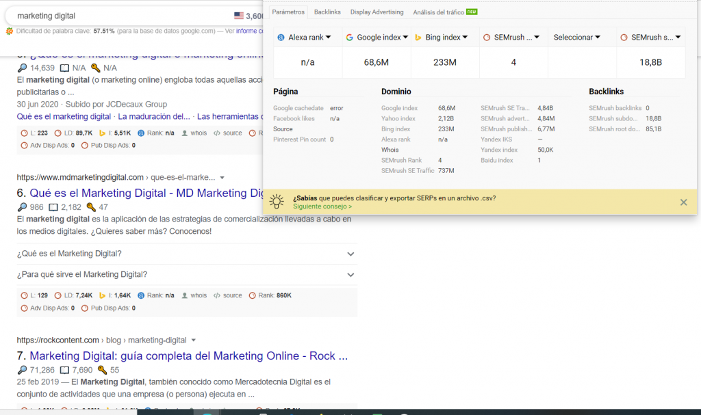 Las 15 mejores extensiones para Google Chrome de Marketing Digital - image 1024x607