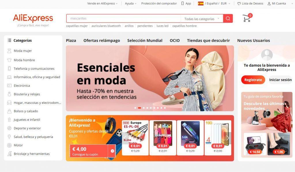¿Qué es ecommerce y cómo crear tu propio comercio electrónico? - aliexpress 1024x597